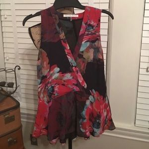 Trina Turk sleeveless floral blouse